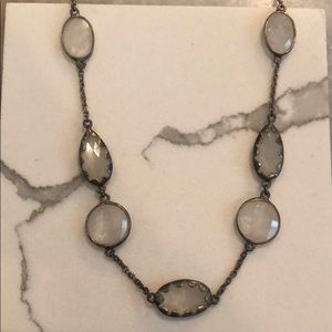 Brass and stone necklace